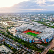 Old Trafford, football stadium Greater Manchester England and the home of Manchester United © Photo London Uk | Dreamstime.com