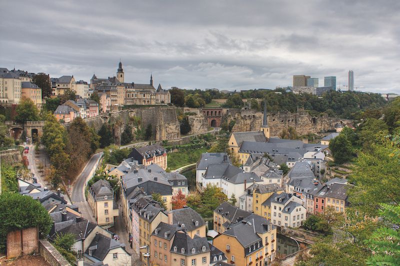 Grund neighborhood Old Town Luxembourg City