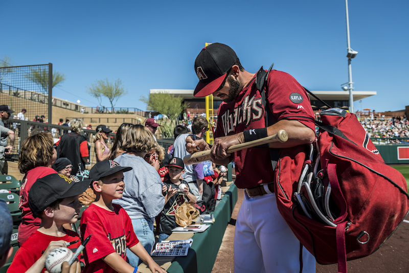 Autograph Signed at Spring Training © Visit Phoenix