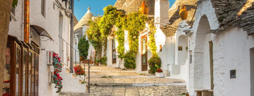 Traditional houses in Alberobello Trulli, Puglia, Apulia, Italy