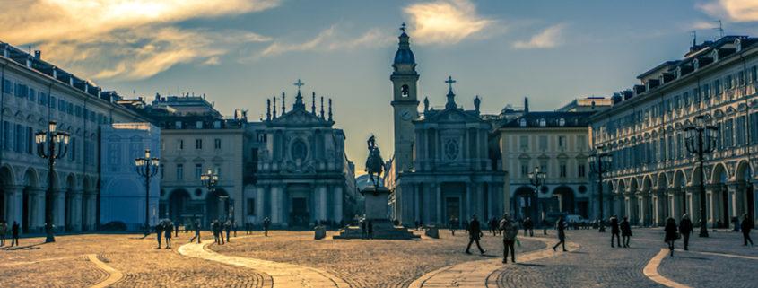 Piazza San Carlo, Turin, Italy at sunset © Giulio Mignani | Dreamstime.com