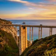 Bixby Bridge and Pacific Coast Highway at sunset near Big Sur in California © Miroslav Liska | Dreamstime.com