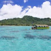 Snorkeling in Rarotonga lagoon, Cook Islands © Rafael Ben Ari | Dreamstime.com