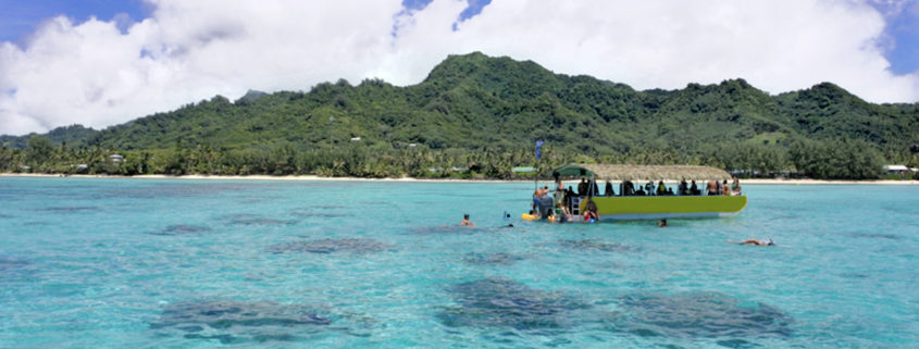 Snorkeling in Rarotonga lagoon, Cook Islands