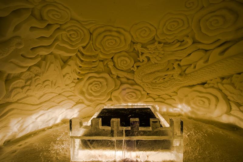 Ice Hotel Suite in Finland © Beataaldridge | Dreamstime.com