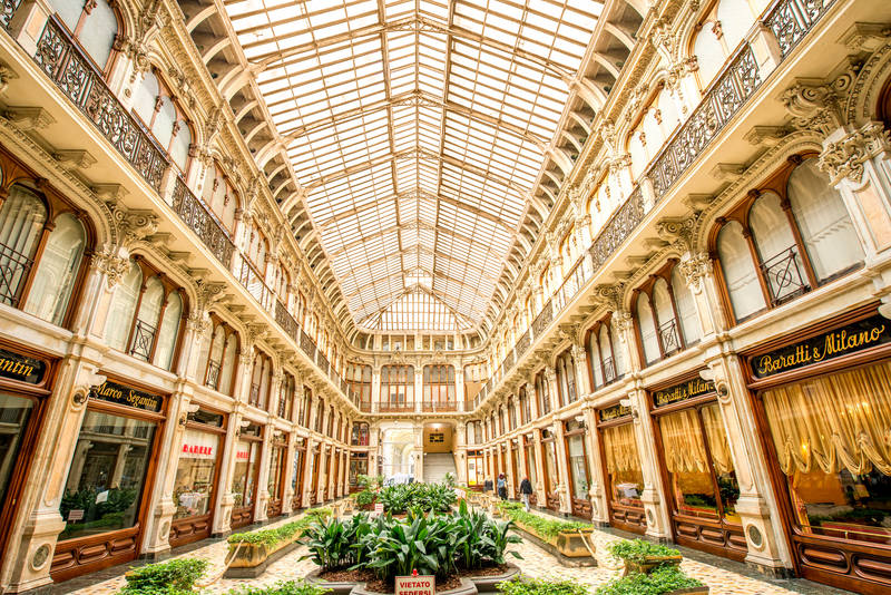 Historical shopping Galleria San Federico constructed in 1932 by Federico Canova and Eugenio Corte, Turin, Italy © Rosshelen | Dreamstime.com