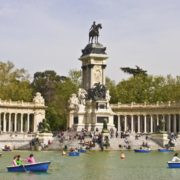 Boating in Retiro Park, Madrid, Spain. Photo: Stillman Rogers