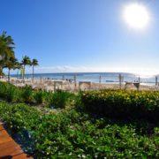 View of the beach, Grand Velas Riviera Maya. Photo: Rina Nehdar