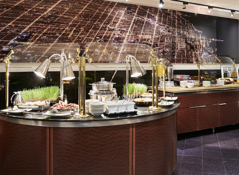 Hilton Chicago O'Hare Andiamo Breakfast.