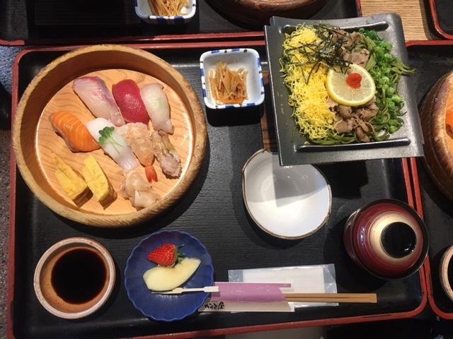 Sashimi lunch in the marina area of Shimonoseki, Japan © Angelique Platas