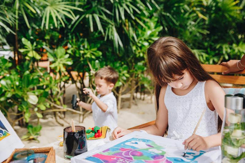 Kids batik course at Trisara Resort. Courtesy of Trisara Resort