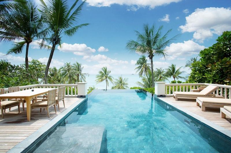 Trisara Resort Ocean Front Pool Villa front view. Courtesy of Trisara Resort
