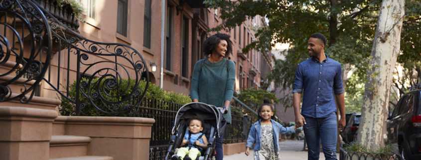 Family walking around Brooklyn. Photo: Monkey Business Images | Dreamstime.com