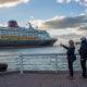 Couple watching Disney Cruise Line sailing © Michael Gordon | Dreamstime.com