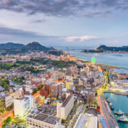 Shimonoseki, Yamaguchi, Japan skyline over the Kanmon Straits © Sean Pavone | Dreamstime.com
