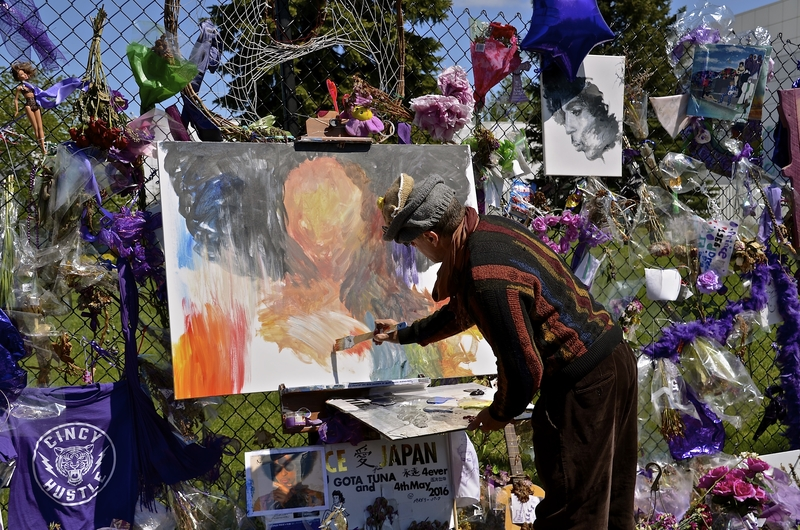 Painter in Paisley Park © Fiskness | Dreamstime.com