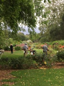 People painting in Descanso Gardens