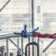 Skydivers in indoor wind tunnel © Delstudio | Dreamstime.com