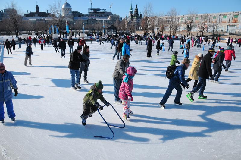 Ice Skating, Montréal.