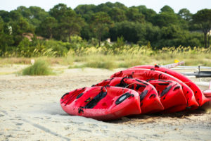 Kayaks on the beach, Hilton Head, South Carolina