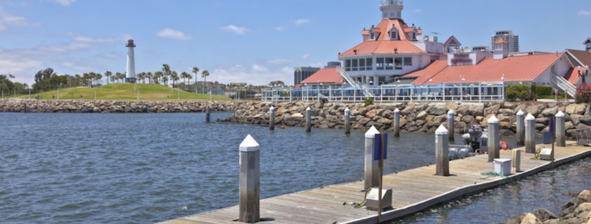 Parkers Lighthouse and marina in Long Beach, California © Gino Rigucci   Dreamstime.com