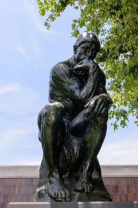 The Thinker of Auguste Rodin in the Norton Simon Museum