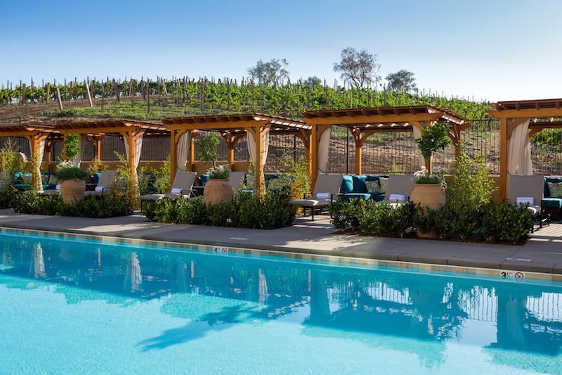 Resort Pool and Cabanas. Photo: Allegretto Vineyard Resort