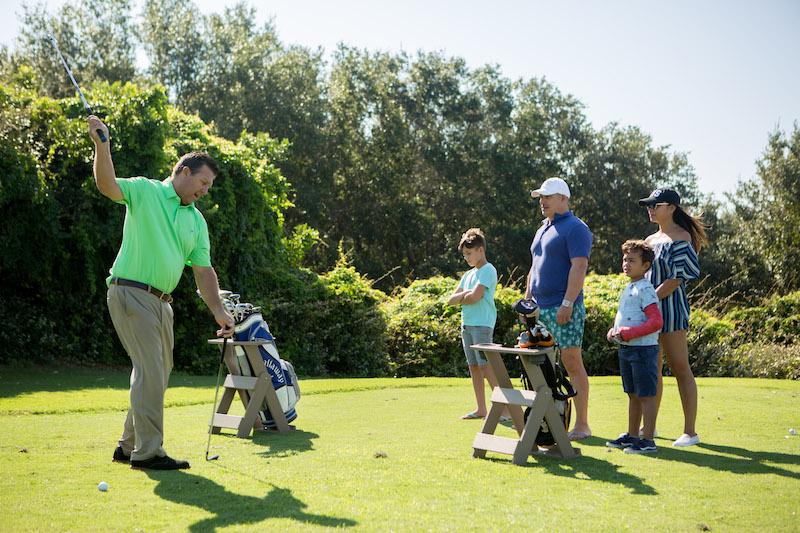 Family Golfing, Photo: Andrea Serrano, Wild Dunes Resort