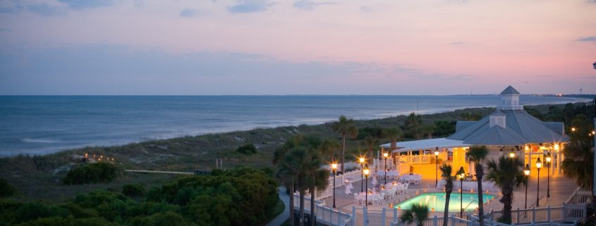 Grand Pavilion, Evening. Photo: Wild Dunes Resort