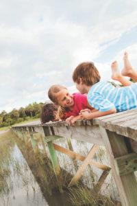 Kids on the dock. Photo: Wild Dunes Resort