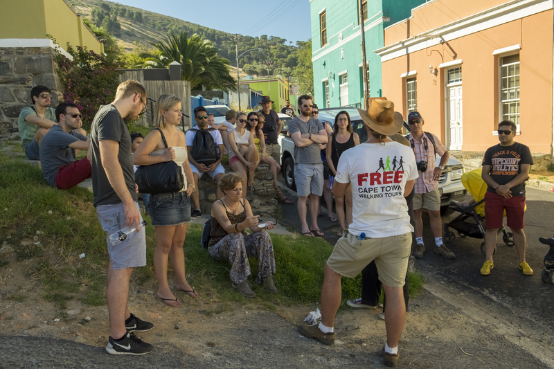 Free walking tour, exploring Bo Kaap, Cape Town, South Africa.