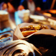 Street food at night at a festival in Argentina. Photo: Marcel Poncu | Dreamstime.com