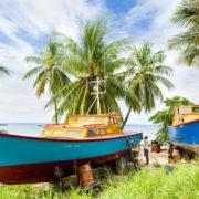 Fishing boats; Six Men's Bay; Barbados.