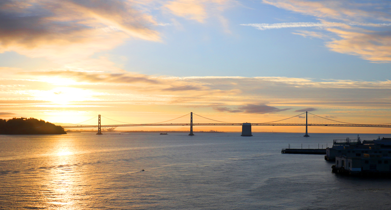 San Francisco to Oakland Bay Area Bridge. Photo: Birdiegal717 | Dreamstime.com