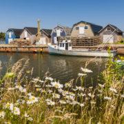 Fishing village near Cavendish, Prince Edward Island, Canada.