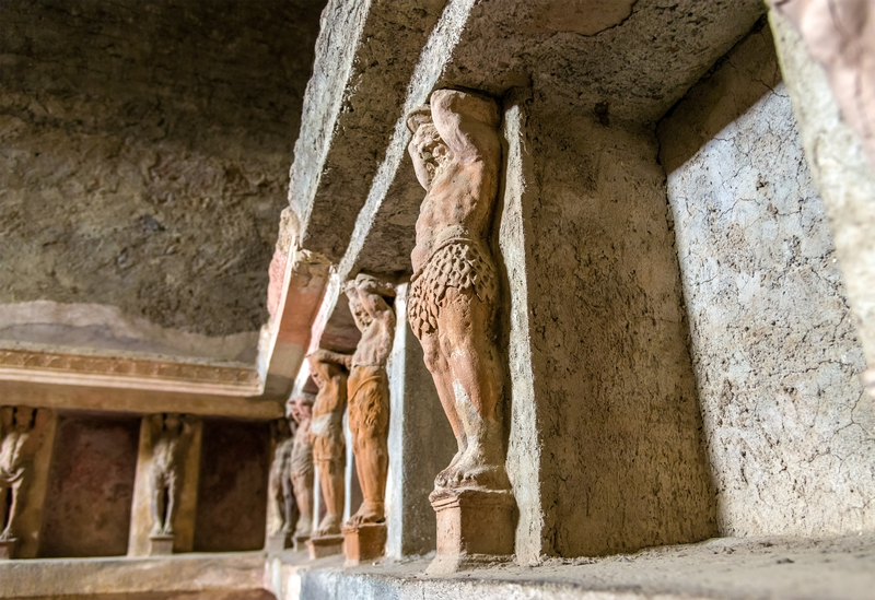 Interior of Stabian baths (Terme Stabiane) in Pompeii, Italy. Photo: Leonid Andronov | Dreamstime.com