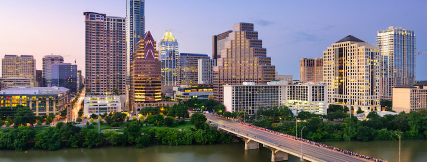 Austin, Texas, downtown skyline.