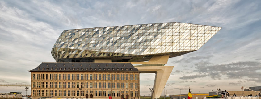 The new Port House in Antwerp, Belgium.