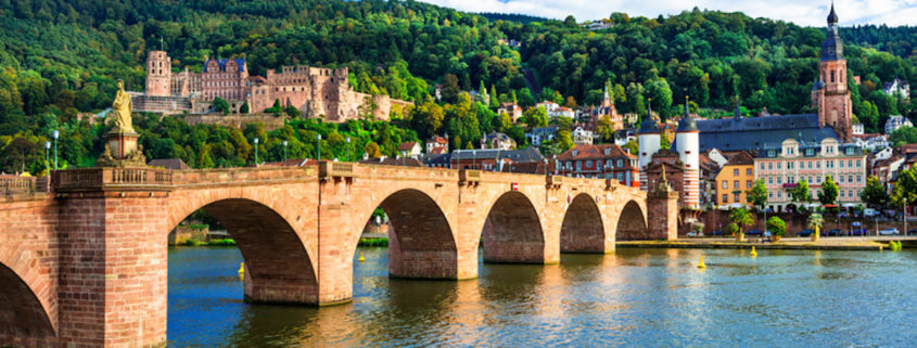Medieval Heidelberg - view of famous Karl Theodor bridge and castle. Germany. Photo: Freesurf69 | Dreamstime.com
