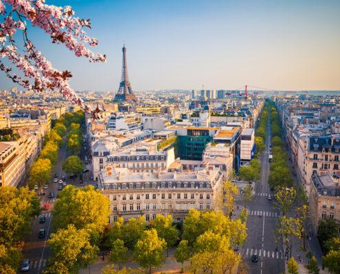 View on Paris at spring evening, France. Photo: Sborisov   Dreamstime.com