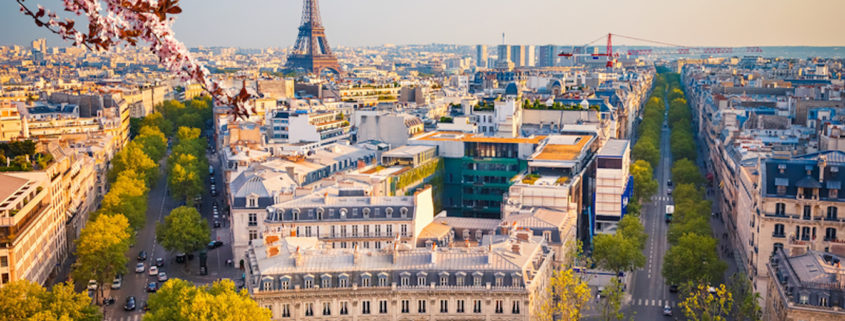 View on Paris at spring evening, France. Photo: Sborisov | Dreamstime.com