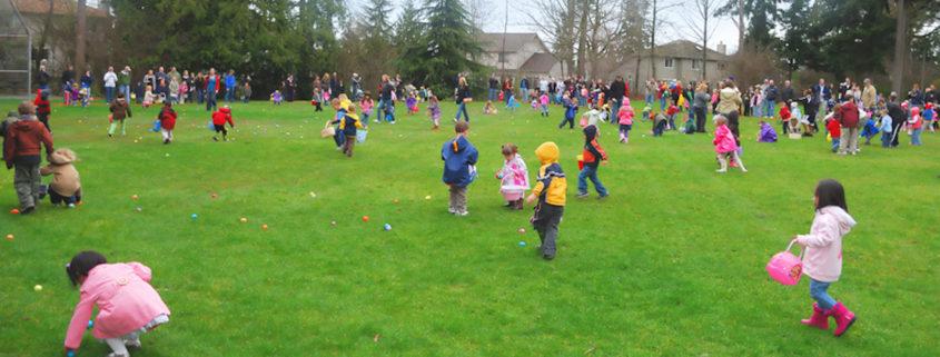 Easter Egg Hunt, PAcific Northwest.