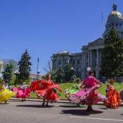 The famous Cinco de Mayo Parade in Denver, Colorado.