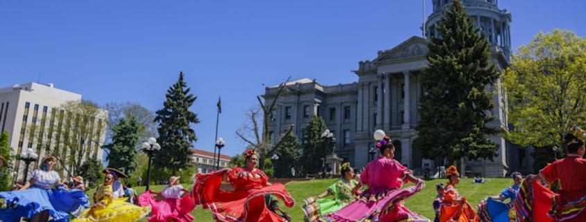 The famous Cinco de Mayo Parade in Denver, Colorado.