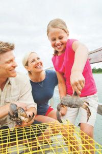 Family Crabbing. Photo: Wild Dunes Resort