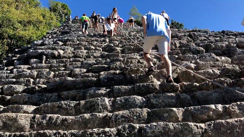 Climbing Pyramids with Family ADVENTURE. Photo: Rina Nehdar