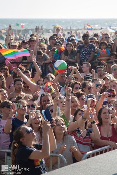 Pride at the beach. Photo: I LOVE NY