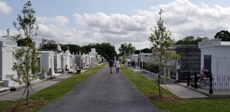 Cemetery during Freewheelin' Bike Tour.
