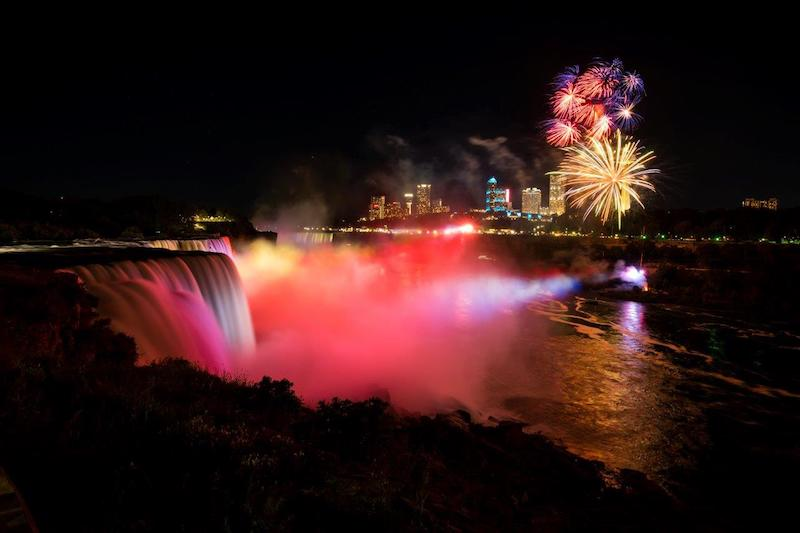 Fireworks over the Falls.