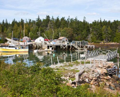 Fishing harbor, Acadia National Park, Mount Island, Maine. Photo: Stillman Rogers